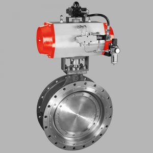 pneumatic double offset butterfly valve