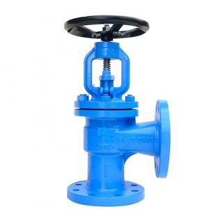 Angle globe valve bellow seal stop valve for steam